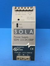 Sola SDN-2.5-24-100P Power Supply 115/230VAC 1.3/.7A 50-60HZ (MM0829-2). See more pictures details at http://ift.tt/2dltiV3