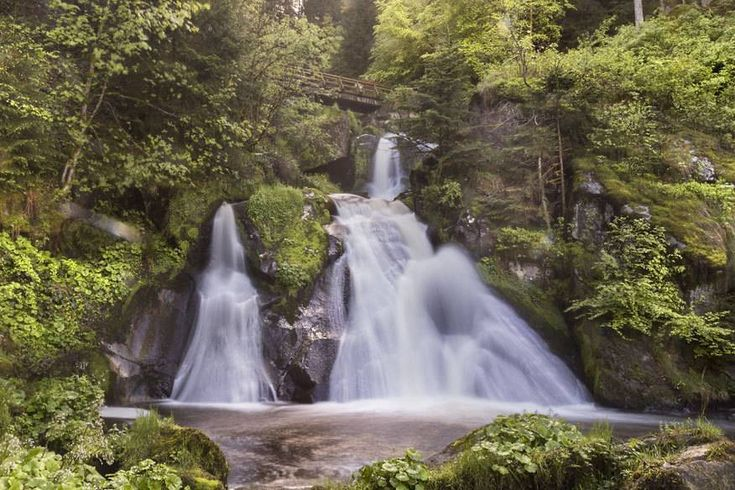 Triberger Wasserfälle im Schwarzwald, Baden-Württemberg.