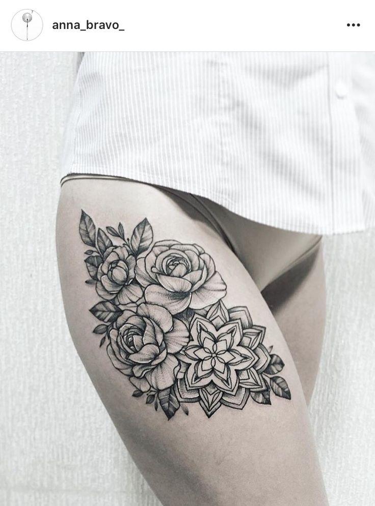 Floral Mandala tattoo by Anna Bravo
