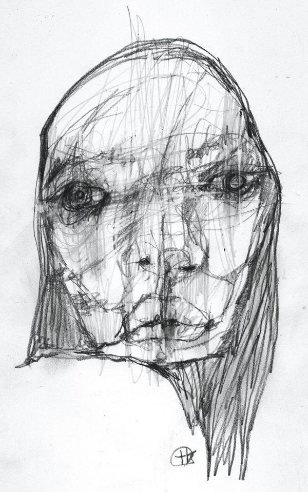 Blind Contour Line Drawing Face : Best takahiro shimatsu images on pinterest portraits