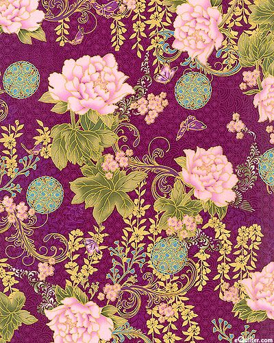 From the 'Asian Peony' collection by Punch Studio for Hoffman FabricsHOPEO2OH at eQuilter.com