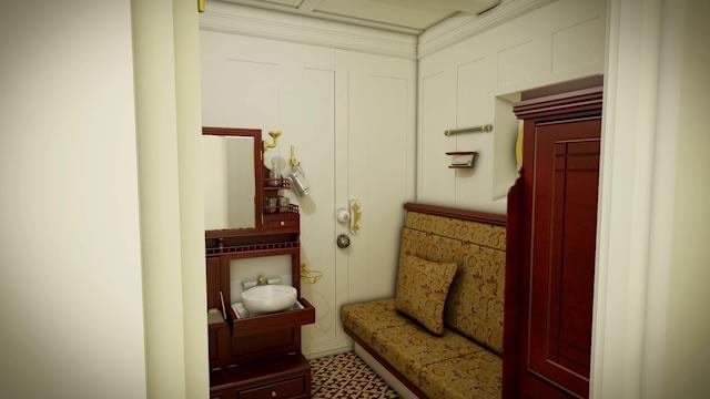 Second class cabin titanic ii titanic ii pinterest for First class cruise ship cabins
