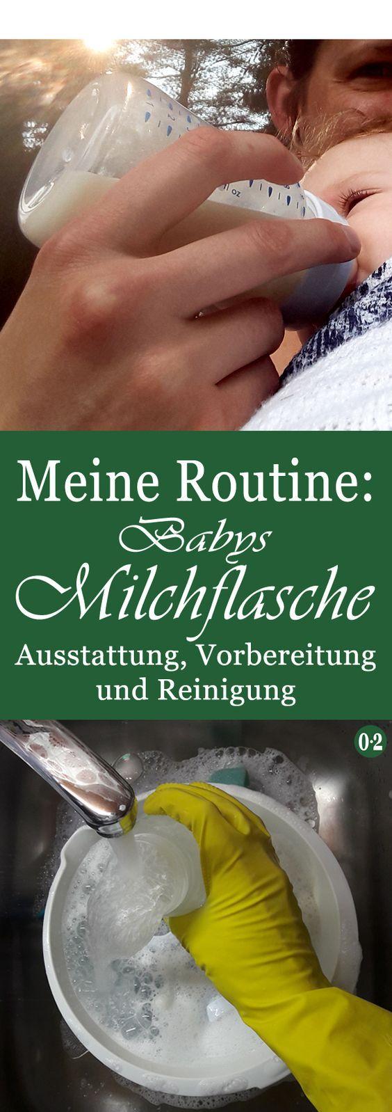 Wer seinem Baby die Flasche gibt, hat ein bisschen mehr Aufwand als stillende Mütter. Meine Routinen sparen Zeit im aufregenden Alltag mit Baby!