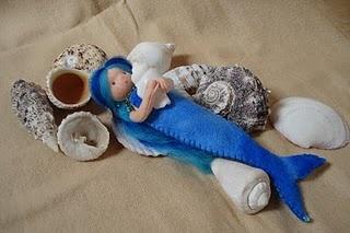 June ~ Water, Sand, & Stone ~ Felt Mermaid