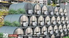 Spéculation, manque de place... A Hong Kong, on construit des appartements dans des tuyaux d'égout