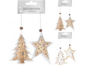 Vánoční ozdoba dřevěná