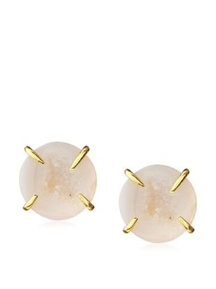 65% OFF Saachi Geode Agate Stud Earrings