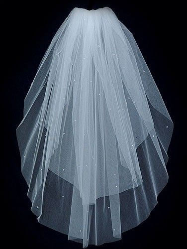Wedding Bridal Veil  CANDLELIGHT IVORY 2 Tier by BellaBridalVeils, $34.00