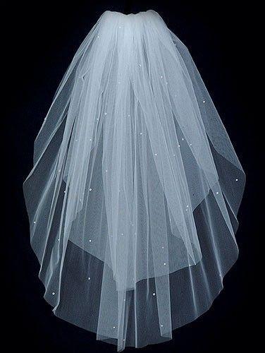 Wedding Bridal Veil  CANDLELIGHT IVORY 2 Tier by BellaBridalVeils, $34.00