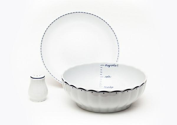 """Dity P. a její Vyšívaný porcelán - vzor """"lodičky"""""""