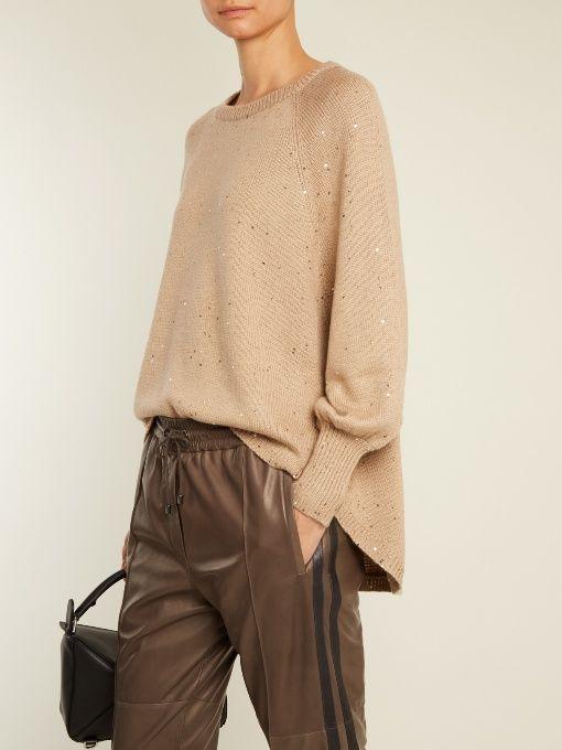Brunello Cucinelli Cashmere and silk-blend knit sweater