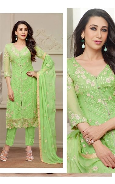 Picture of Alluring Mint Green Party Wear Bollywood Salwar Kameez