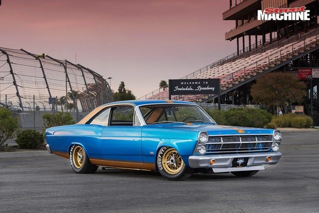 SEMA 2014 – Steve Strope's NASCAR inspired Ford '67 Fairlane, which he has nicknamed Black Ops...Re-pin brought to you by agents of #Carinsurance at #Houseofinsurance in Eugene, Oregon