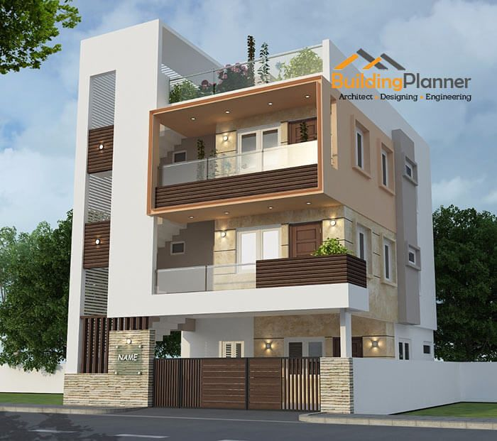 3d Elevation Designers In Bangalore Get Modern House Designs Online In 2020 Small House Elevation Design Narrow House Designs 3 Storey House Design