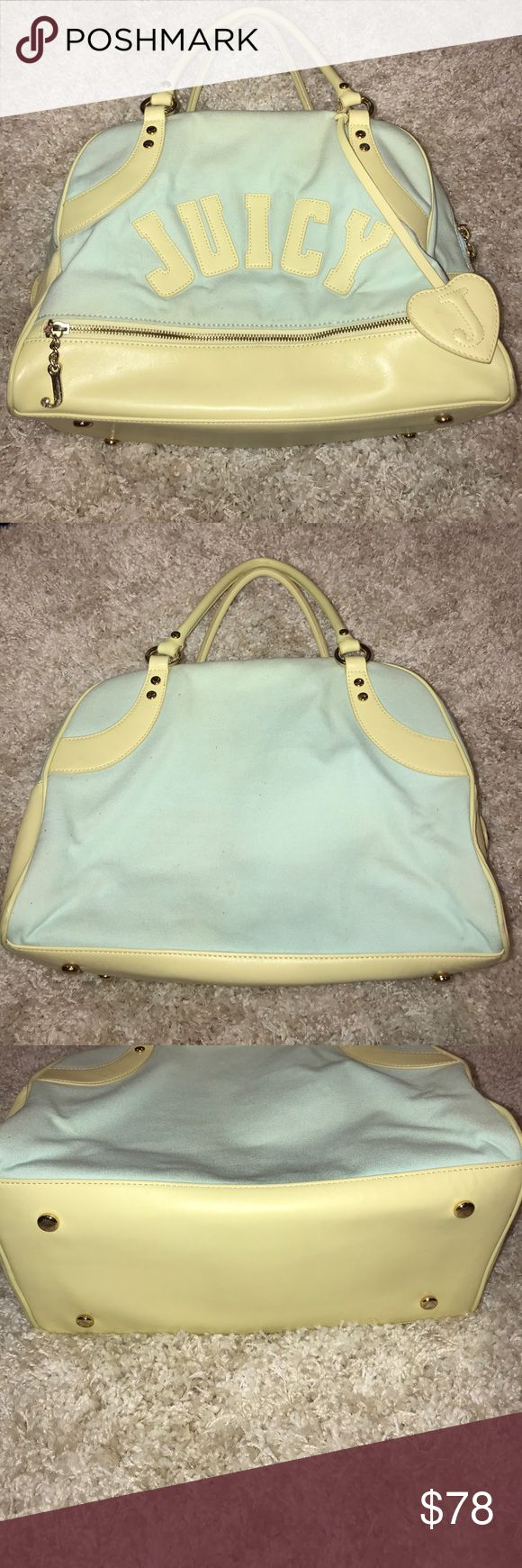•Juicy Couture• Travel Tote Condition shown in pictures. Small rust marks. Edition prior to Kohl's. Juicy Couture Bags Travel Bags