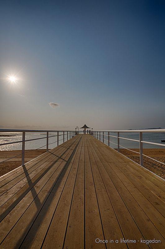 石垣の美しい桟橋