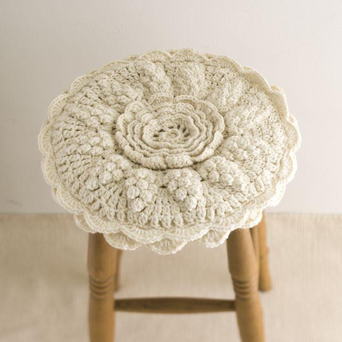 crochet stool cover cushion
