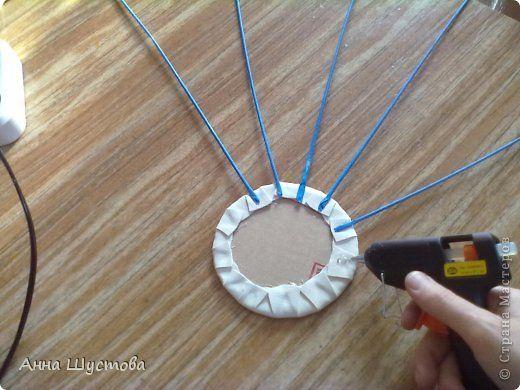 Мастер-класс Плетение МК по покраске трубочек и изготовлению дна Бумажные полосы фото 18