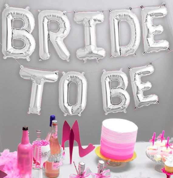 This Mylar letters balloon Kit will thrill any Bride at her Bachelorette Party or Bridal Shower!!  ♦♦♦ WHY SHOP WITH US ♦♦♦  • MOST ORDERS SHIPPED