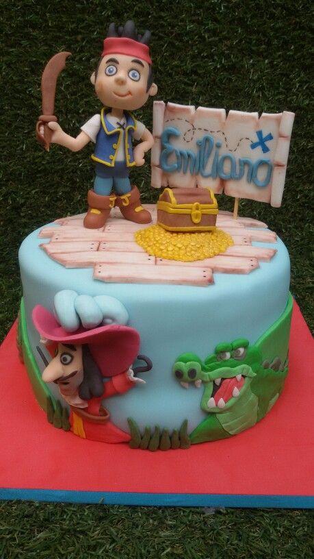 Torta jake y los piratas...con garfio y tictac en 2d