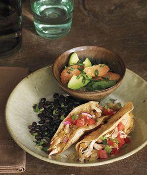 Chicken Tacos With Avocado and Grapefruit Salad Recipe - Real | http://freshfruitrecipe911.blogspot.com