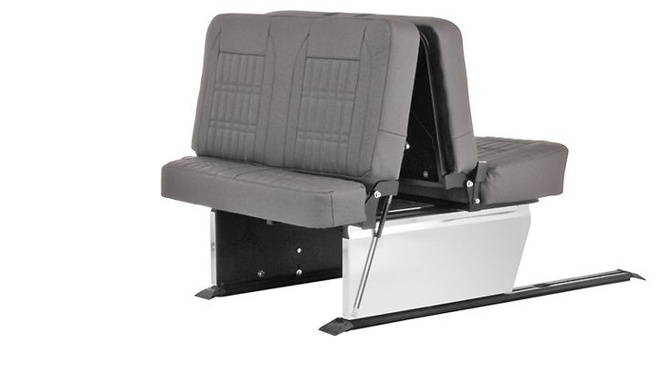 Smart Bed Evolution 2 Rail, a 3/4 width pull tested rock and roll bed. Bed is mounted to a rail you can position the bed exactly where you want in your van.