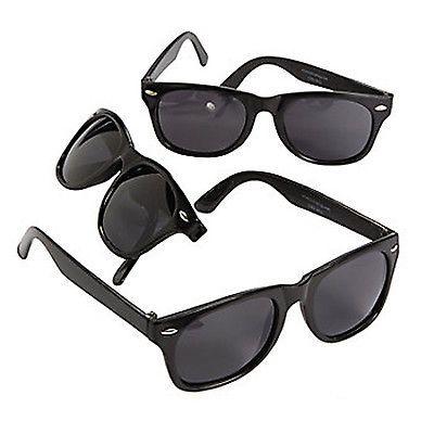 TOP-SECRET-SPECIAL-AGENT-PARTY-Black-Nomad-Sunglasses-Child-Size-x-1-Pair