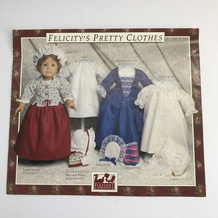 Felicity American Girl Doll Authentic 1992 Clothes Pattern by xoxoGrandma on Etsy