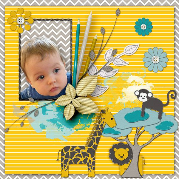 *Paper Jungle * by Samal designs http://www.digiscrapbooking.ch/shop/index.php… http://samaldesigns.com/…/ind…/kits/all/paperjungle-kit.html
