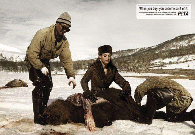 <<Την ημέρα που θα σταματήσεις να αγοράζεις, θα σταματήσουν να σκοτώνουν.>> Καμπάνια της PETA για τις γούνες.