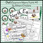 This second set of $4.75 owl classroom helpers includes:  100 Chart  Sheet of Four Smaller Individual 100 Charts  Sheet of Name Tags  Sheet of Desk Name Tags  Owl Book Cover & Lined Writing Page  Owl Newsletter Template for Word  North, South, East & West Classroom Wall Signs