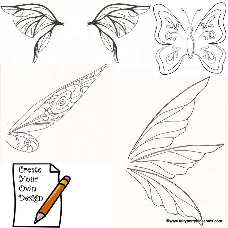 fairy wing template | Go Back > Pix For > Tinkerbell Wings Template