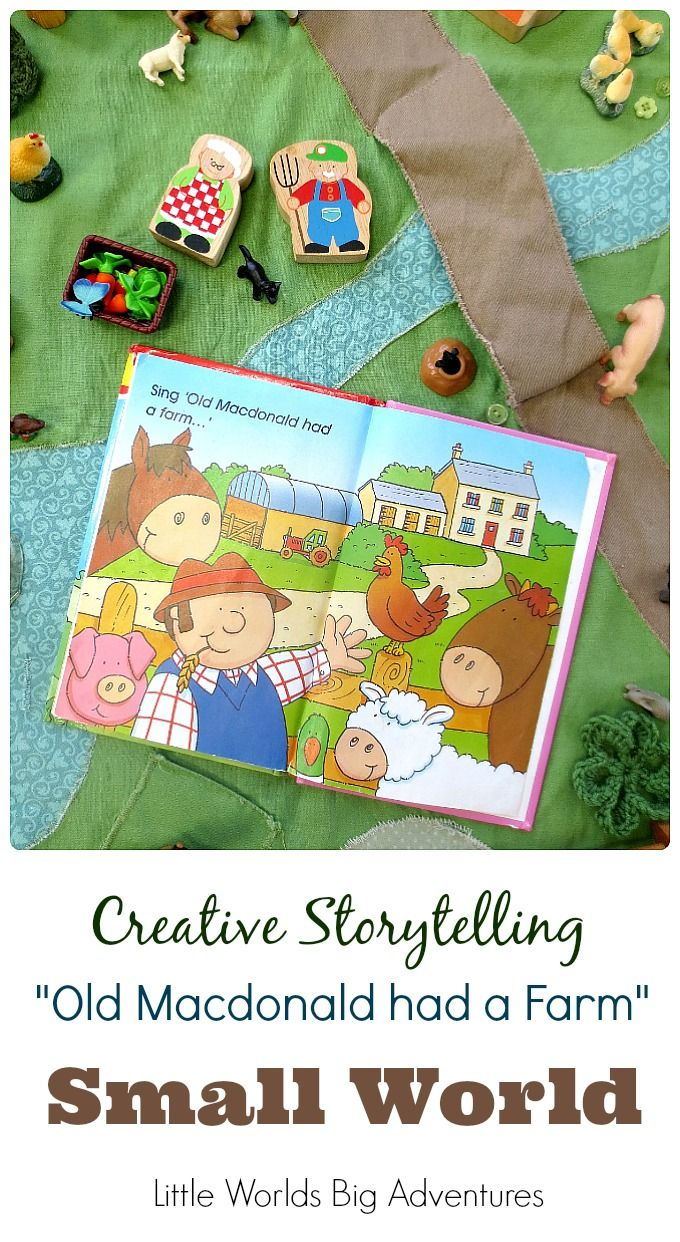 Old Macdonald had a Farm Small World | Great tips for creative storytelling activities with your toddler or preschooler! | Little Worlds Big Adventures