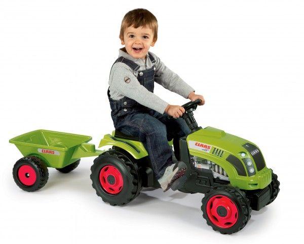 SMOBY 710107 šlapací traktor CLASS GM Zaba s prívesom a s otváracou kapotou a posuvným sedadlom od 3 rokov