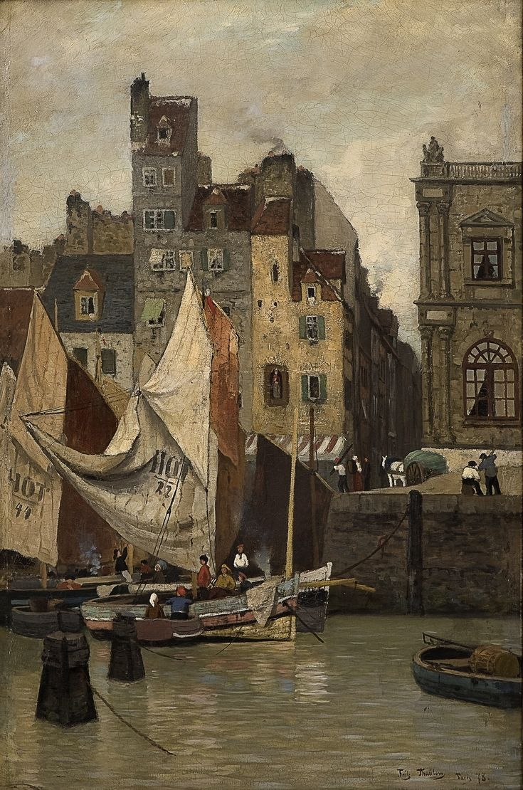 High Tide, Le Havre, 1878, Fritz Thaulow