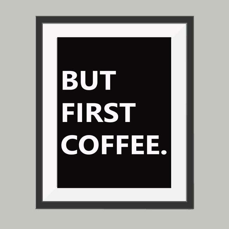 But first coffee poster.