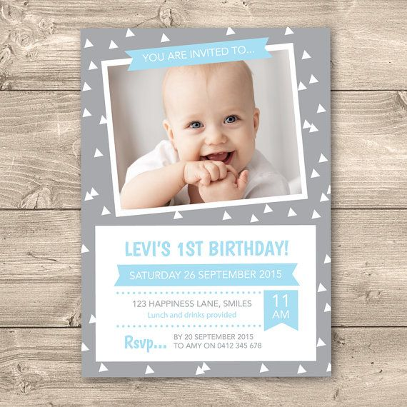 Boys Birthday Invitation Digital File  I by InkandCardDesigns