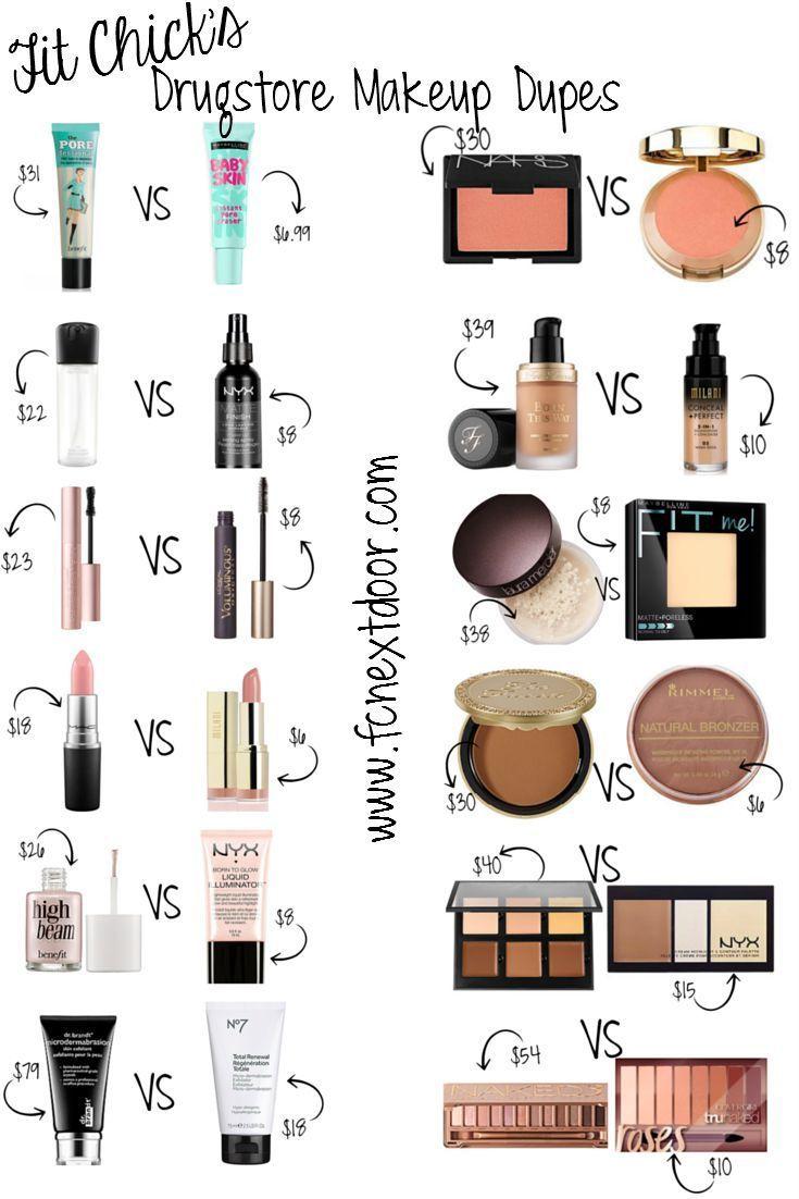 Einfache Swaps von Fit Chick: Drugstore Makeup Dupes – Vol. 2 – Pin-fähig