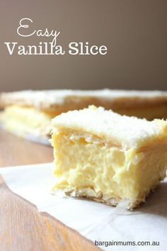 Just like the title suggests, this Easy Vanilla Slice is one of the easiest ways to make vanilla slice.