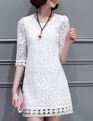 Lace shift dress. This lovely dress comes in white, pink and black. It's a classic choice for the girly, feminine woman. Get it for $15.99.