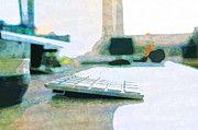 """New artwork for sale! - """" Computer Office Table Keyboard  by PixBreak Art """" - http://ift.tt/2mEieYl"""