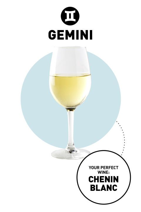 A Gemini's perfect wine is Chenin Blanc because they like to experience all life has to offer.So, they need a wine that's as versatile as their tastes.