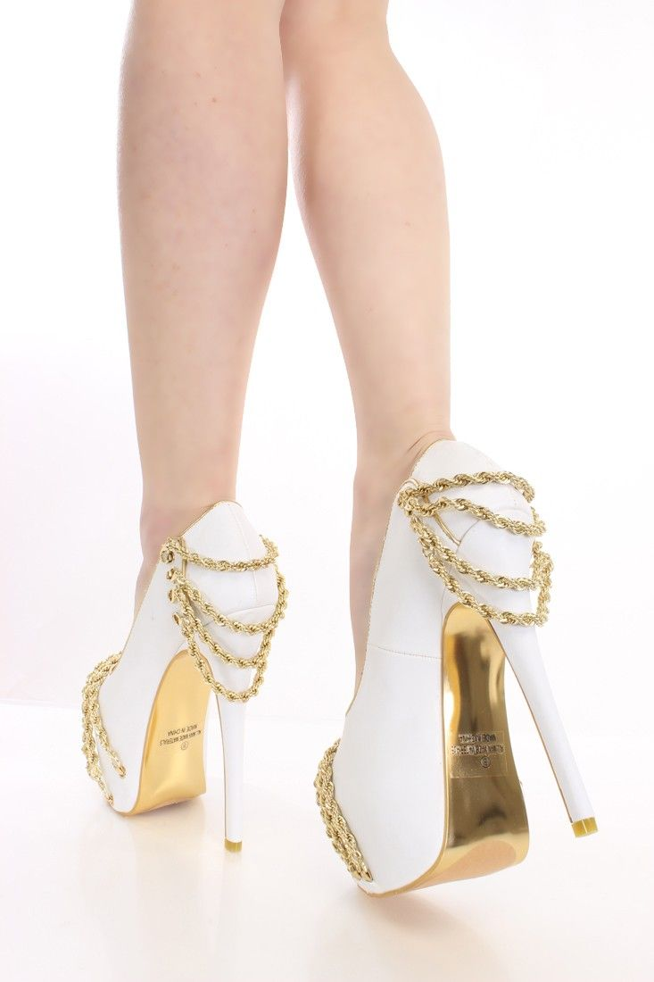 White Prom Shoes