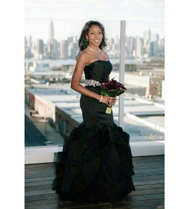 Nigerian wedding black wedding gown