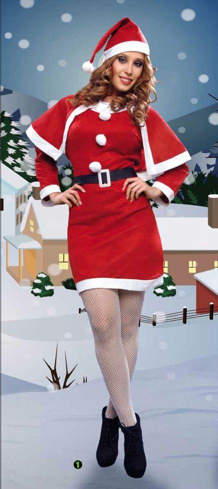 Disfraz de Mama Noel  Incluye: Sombrero, vestido, capa y cinturon  Composición: Pirineo http://www.disfracessimon.com/disfraces-baratos/2584-disfraz-mama-noel-p-2584.html
