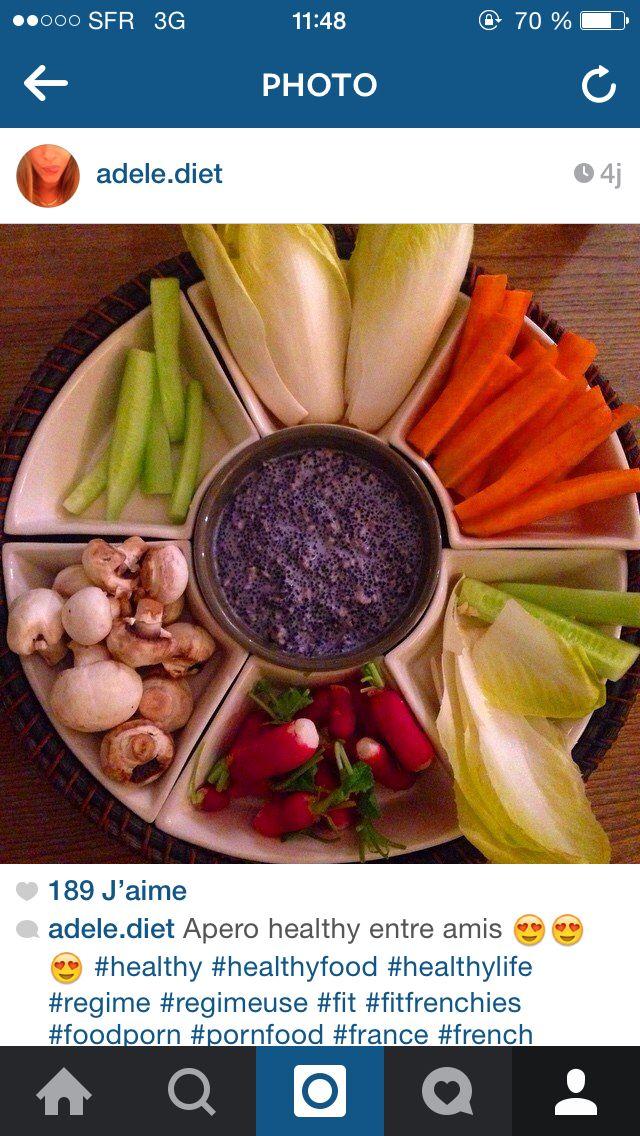 AdeleDiet HomeMade idée d'apéritif avec sauce aux œufs de poisson et morue