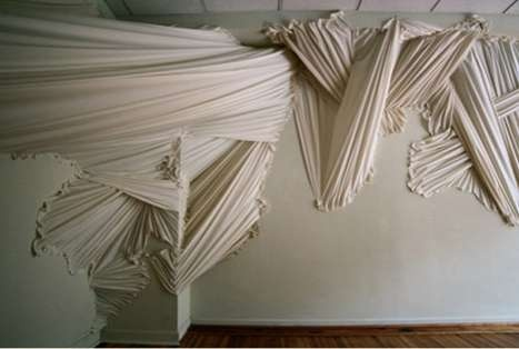 Ruffled Fabric art installation