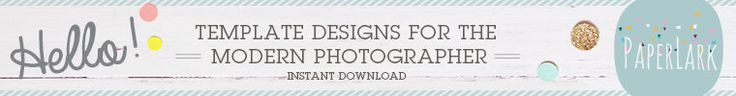 Photoshop Templates for Photographers by PaperLarkDesigns on Etsy