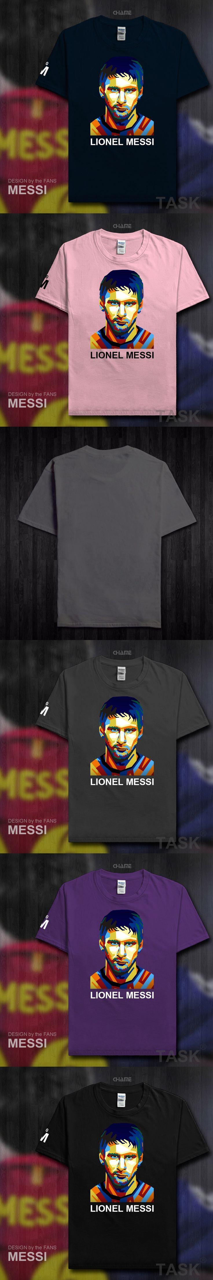 2017 New Summer Men's T-shirt MESSI Barcelona Printing T Shirts Casual Tops Tee Boys Fans Shirt Argentina footballer star M10 04