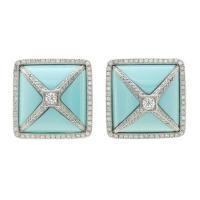 Salavetti Turquoise Diamond White Gold Earrings
